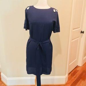 Vintage Lilly Pulitzer Navy Blue Dress Embellished